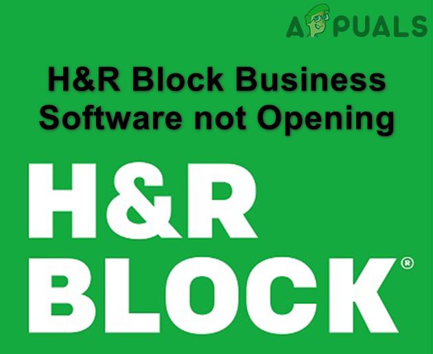 Программное обеспечение H&R Block Business не открывается