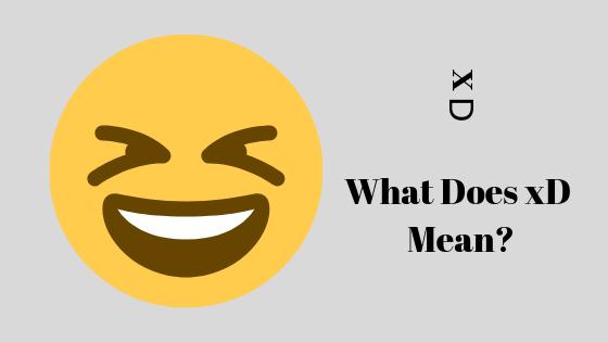 Что означает xD?