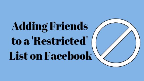 Как добавить друга на Facebook в список ограниченного доступа
