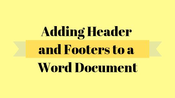 Как сделать другой верхний и нижний колонтитулы для первой страницы документа Word