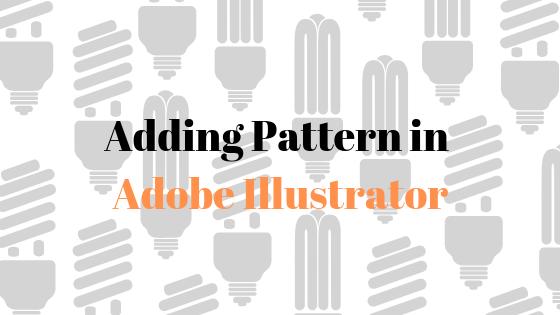 Как добавить узор к фигурам и тексту в Adobe Illustrator?
