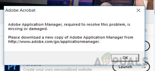 Как исправить отсутствие или повреждение Adobe Application Manager