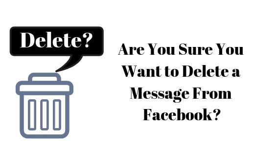 Как удалить сообщение или весь разговор на Facebook