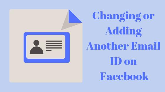 Как добавить другой адрес электронной почты для текущей учетной записи Facebook?