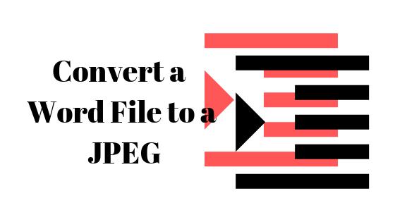 Как сохранить документ Word в формате JPEG