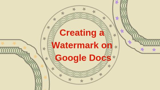 Как добавить водяной знак в документы Google