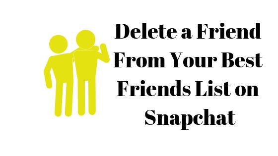 Как удалить кого-то из списка лучших друзей на Snapchat