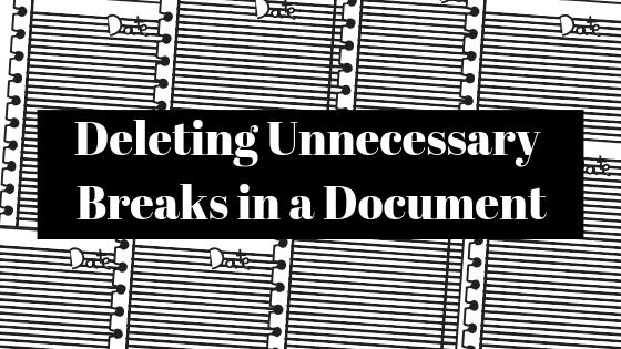 Как удалить ненужные разрывы из документа Microsoft Word
