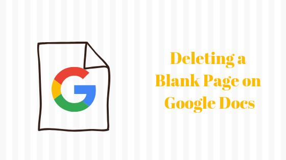 Как удалить пустую страницу в документах Google