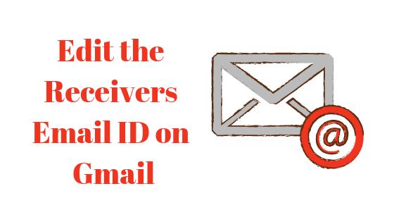 Как изменить идентификатор электронной почты получателя в Gmail