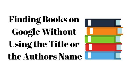 Как найти книги в Google без названия или имени автора