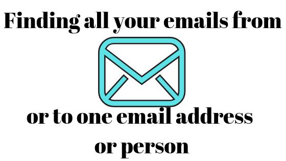 Как найти все электронные письма от или на определенный адрес в Gmail