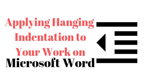Как применить выступающий отступ в Microsoft Word
