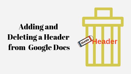 Как добавить и удалить заголовок в Google Документах