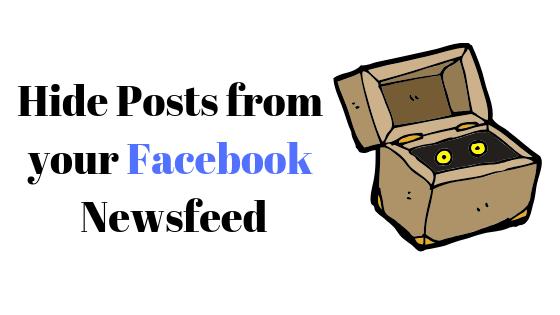 Как скрыть сообщение друзей в ленте новостей Facebook