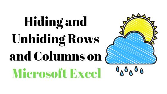 Как скрыть и показать строки и столбцы в Microsoft Excel
