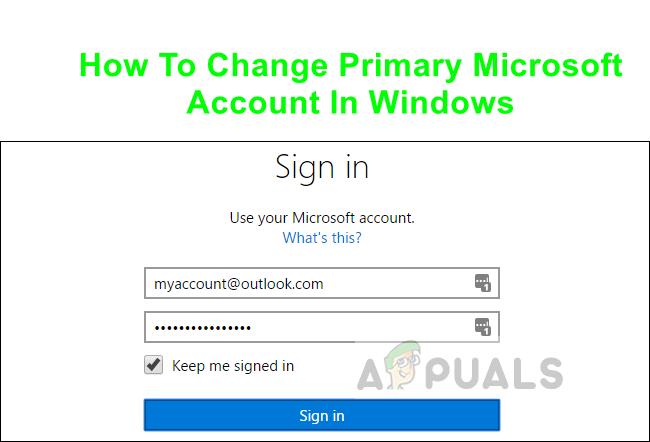 Как изменить основную учетную запись Microsoft в Windows