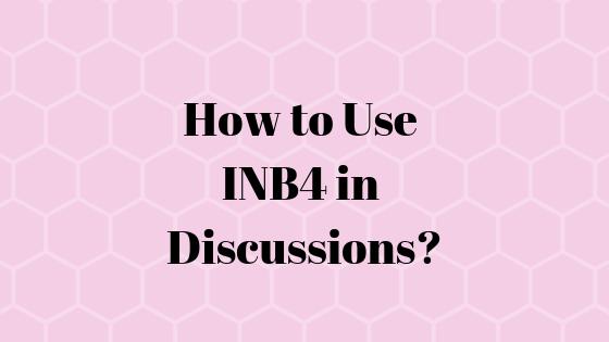 Что означает аббревиатура INB4