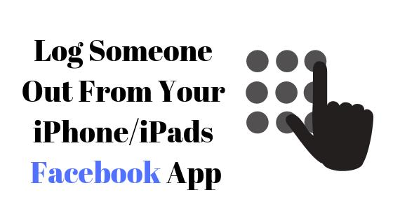 Как выйти из системы в приложении Facebook для iPhone / iPad