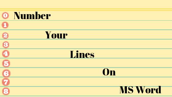 Как пронумеровать ваши строки в документе Word?