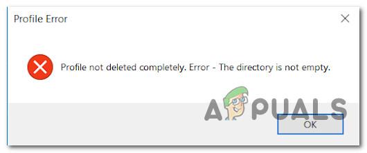 Исправлено: ошибка «Профиль не удален полностью» в Windows 10.