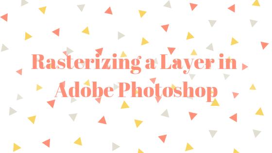 Как растрировать слой в Photoshop