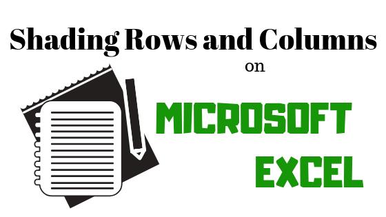 Как заштриховать строки и столбцы в Microsoft Excel