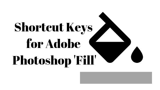 """Каковы сочетания клавиш для связанных действий """"Заливка"""" в Adobe Photoshop"""