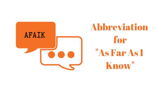 Что такое AFAIK и где его использовать