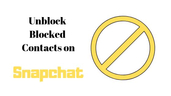 Как разблокировать контакты в Snapchat