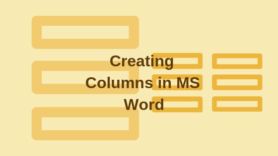 Как создать столбцы в Microsoft Word