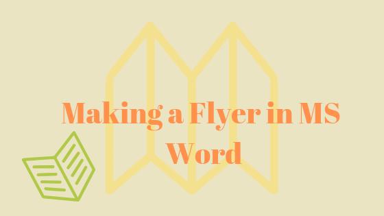 Как сделать флаер в MS Word?