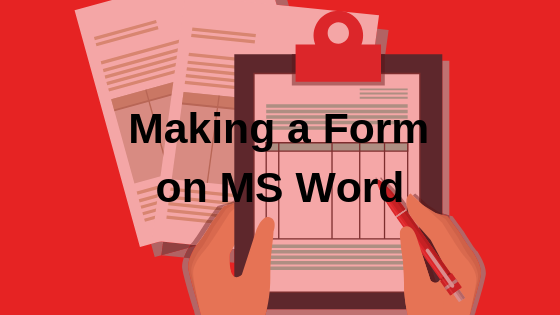 Как создавать формы в Microsoft Word