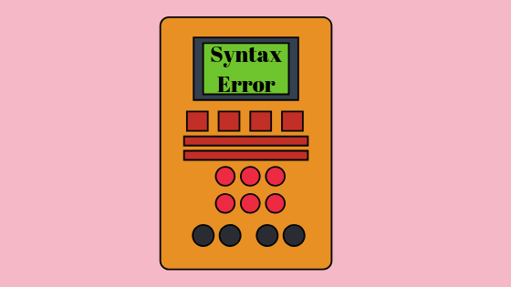 Что такое синтаксическая ошибка?