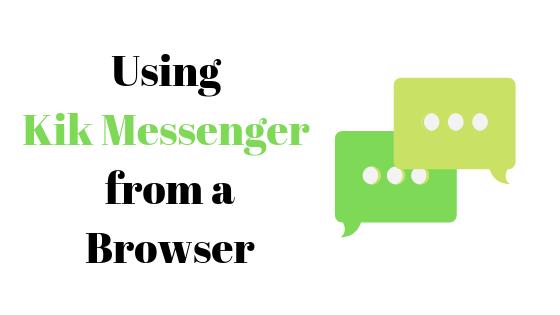 Можно ли использовать Kik Messenger без приложения