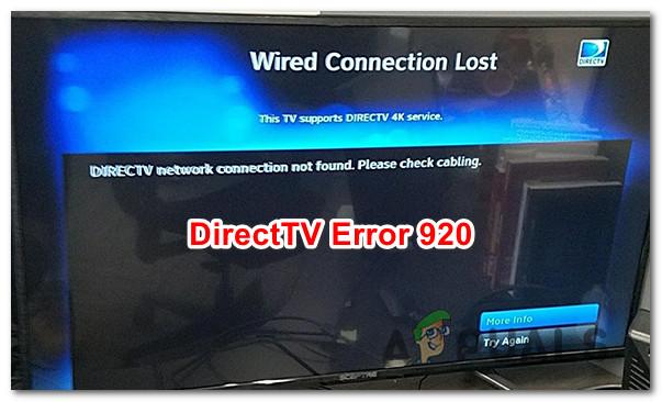 Как исправить ошибку DirecTV 920
