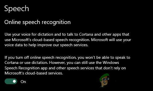 Как включить / отключить распознавание речи в Интернете в Windows 10?