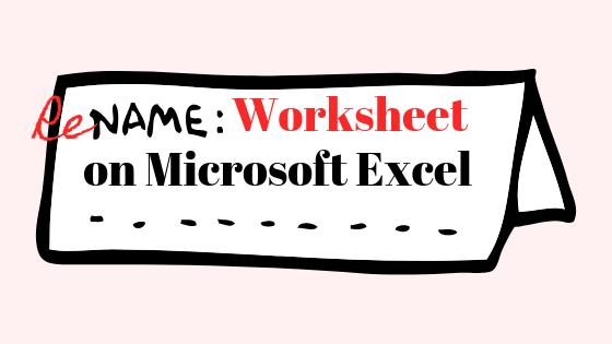 Как изменить имя листа в файле Excel