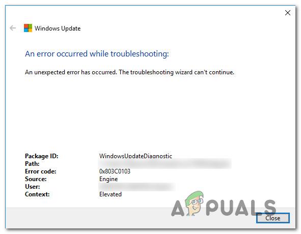 Как исправить ошибку 0x803c0103 с помощью средства устранения неполадок Центра обновления Windows