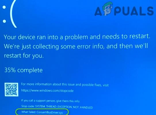 Как исправить ошибку BSOD CorsairVBusDriver.sys в Windows 10