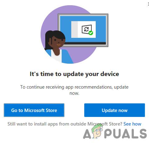 [Fix] «Пришло время обновить ваше устройство» при установке программного обеспечения