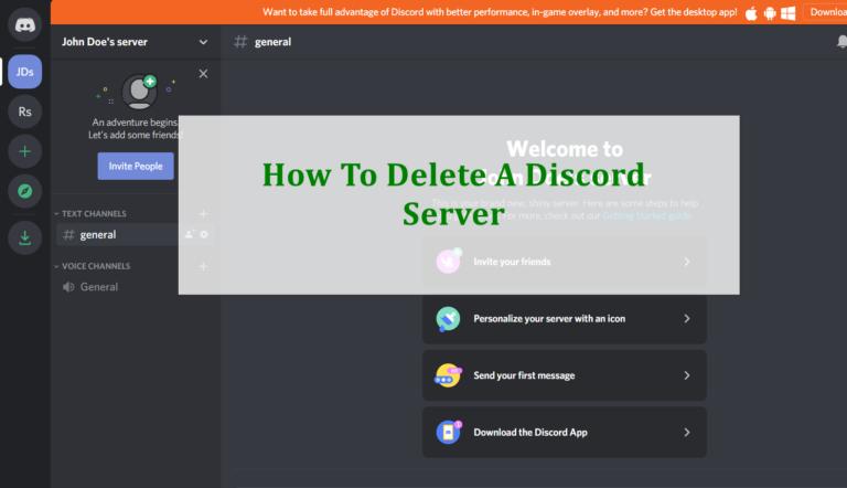 Как удалить сервер Discord