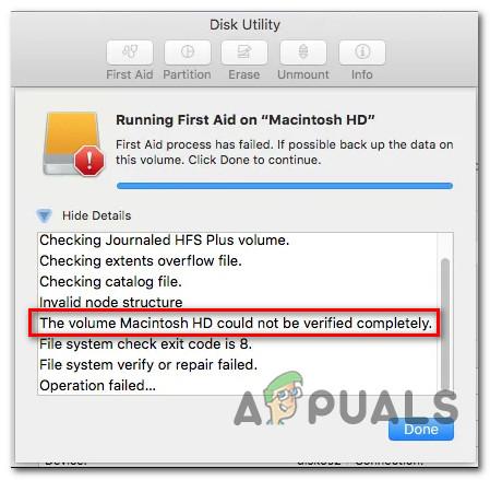 [FIX] Ошибка неверной структуры узла MAC (не удалось проверить полностью)