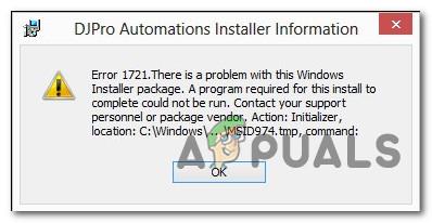 Как исправить ошибку Java 1721 в Windows
