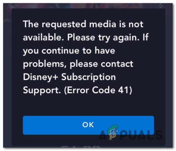 Как исправить код ошибки 41 Disney Plus