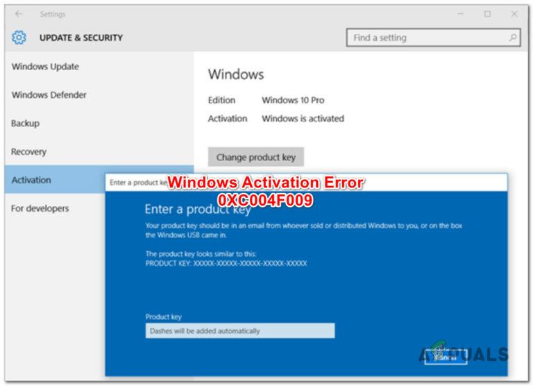 Исправить ошибку активации Windows 0XC004F009 (истек льготный период)