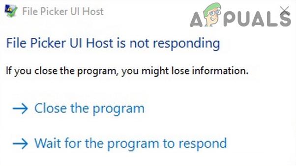 Узел пользовательского интерфейса средства выбора файлов не отвечает (исправлено)
