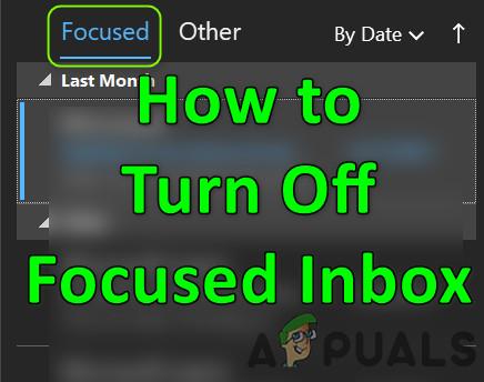 Отключить сфокусированные входящие в Outlook
