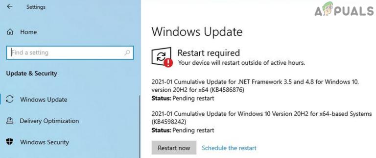 Как исправить KB4586876 и KB4598242 – Ошибка установки