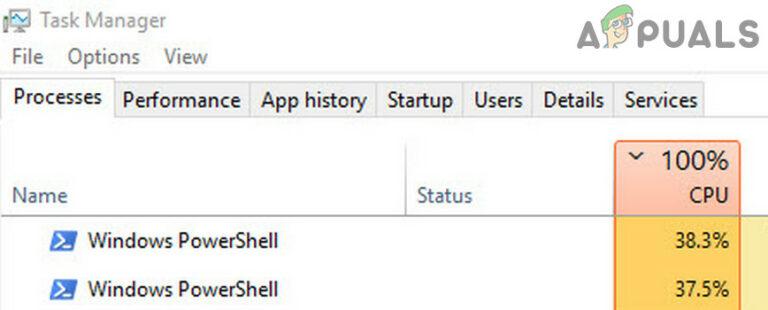 Устранение высокой загрузки ЦП, вызванной Windows PowerShell в Windows 10
